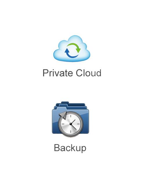 Datensicherung und Private Cloud auf der Speicherlösung für Zuhause